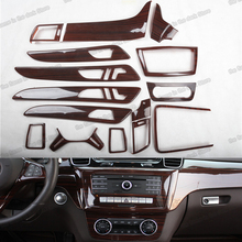 Lsrtw2017 Car Center Console Gear Panel Door Handle Dashboard Trim for Mercedes Benz ML GL W166 X166 2012 2013 2014 2015 2016