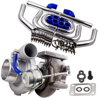 2.5 inch 64mm Intercooler Piping pipe & T25 T28 GT2871 Turbo Turbocharger Kit GT25 GT28 GT2860 Upgrade Water+Oil Cooled