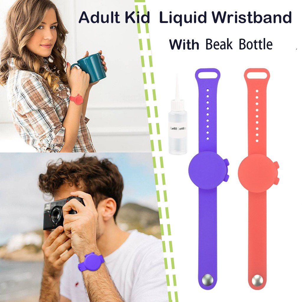 Adult Kid Liquid Wristband Hand Dispenser Handwash Gel With Whole Sanitizing Handwash Gel Sanitizer Bracelet Belt