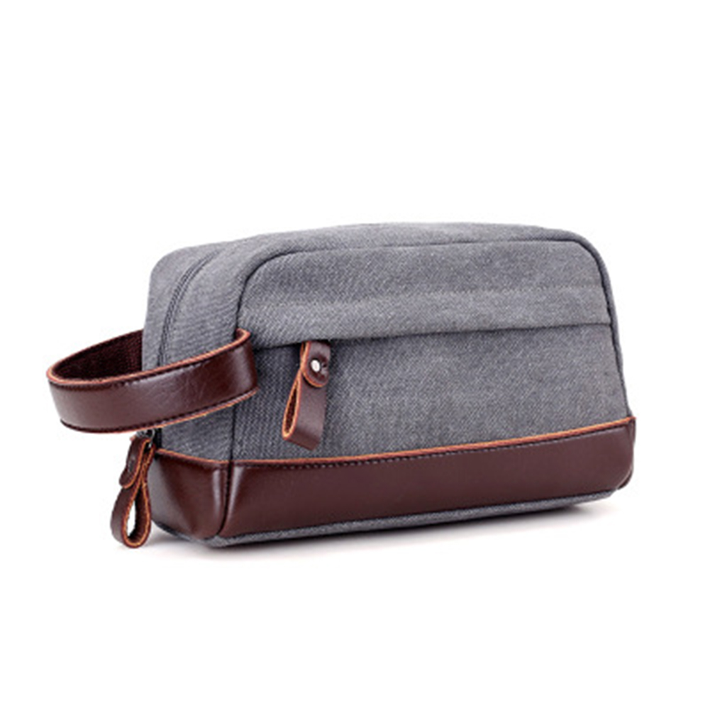 New Men's Gifts Fashion Men Travel Toiletry Cosmetic Bag Leather Makeup Bag Organizer Portable Storage Pouch