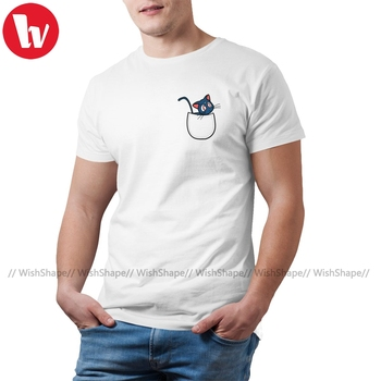 Sailor Moon Luna T Shirt Pocket T-Shirt Cotton Graphic Tee 5x Man Funny Tshirt