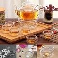 Новый практичный прозрачный стеклянный портативный Круглый чайник для чашек кофейного чая  подогреватель для свечей  портативный чайник  т...