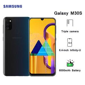 "Samsung Galaxy M30s Mobile phone Android 6.4"" sAMOLED Display 6GB 128GB Octa core 6000 mAh Battery 48MP Triple Camera Smartphone(China)"