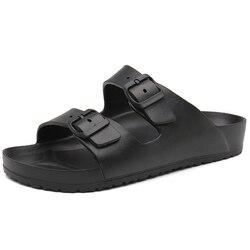 Sapatos Chinelos de praia Verão Flip Flops Mulher Sandálias Fivela Homens Do Mar Rio Desliza Tamancos Casuais Par Sapatos Ao Ar Livre Zapatos