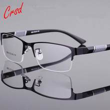 Crsd nova miopia óculos homem retro metal quadro quadrado estudantes miopia óculos quadro para mulher-1.0 a-6.0 masculino wearglasses
