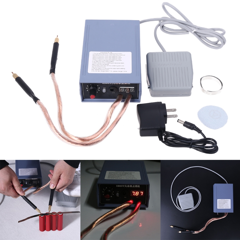 5000W portable rechargeable 18650 Spot welder machine with foot switch Y5JA