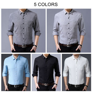 Image 4 - COODRONY Brand Men Shirt Business Casual Shirts Autumn Long Sleeve Cotton Shirt Men Clothes Camisa Masculina With Pocket 96093