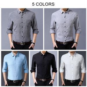 Image 4 - COODRONY marka koszula męska koszule biznesowe w stylu casual jesień bawełniana koszula z długim rękawem mężczyźni odzież Camisa Masculina z kieszenią 96093