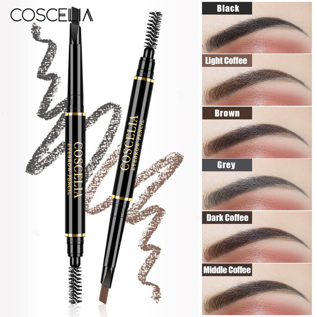6 Color Lasting Double Ended Eyebrow Pencil For Eyebrows Waterproof No Blooming Rotatable Eyebrows Pen Makeup Cosmetics 1