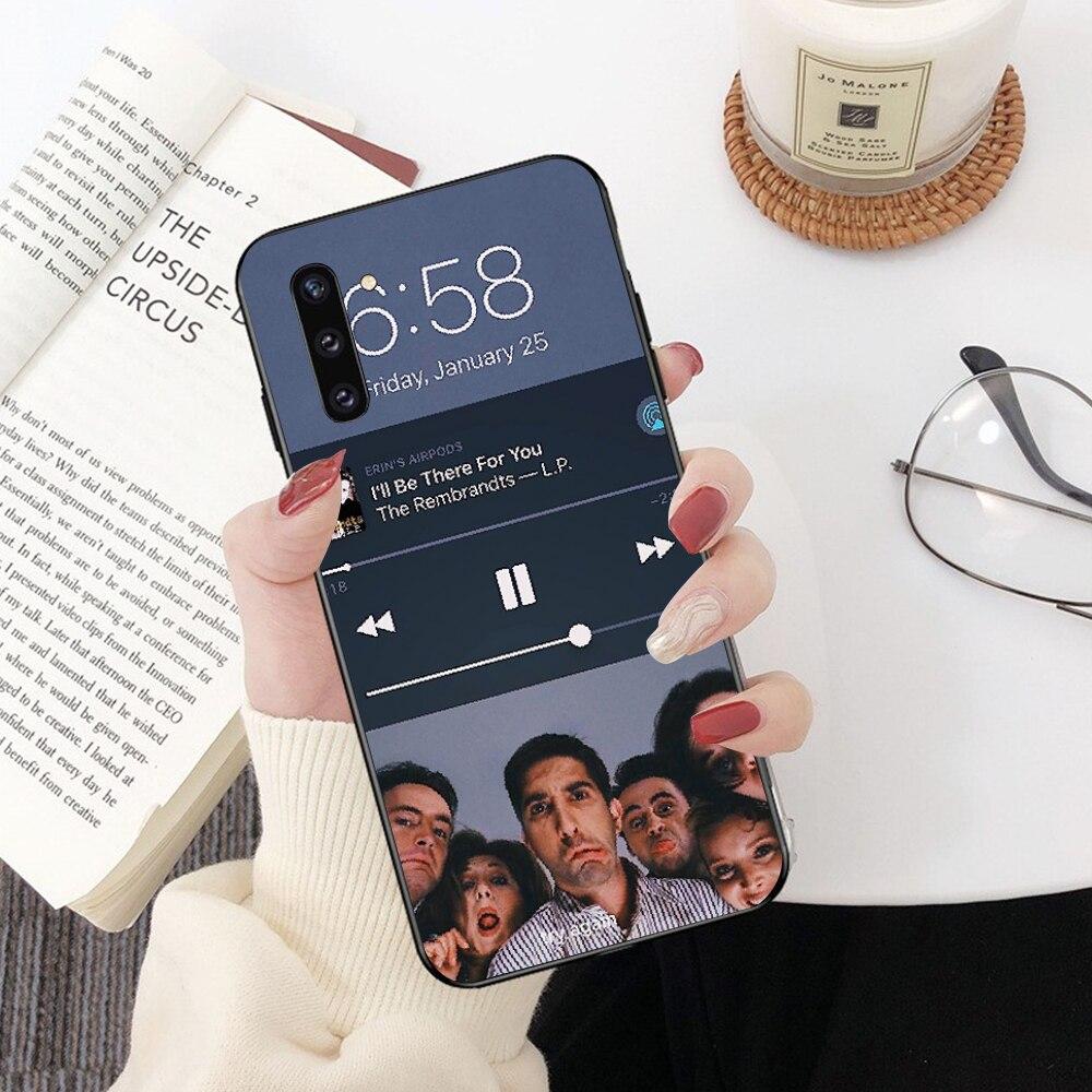 NBDRUICAI TV classique série Friends Photo personnalisé étui de téléphone pour Samsung Note 3 4 5 7 8 9 10 pro A7 2018 A10 A40 A50 A70 J7 2018