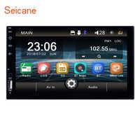 """Seicane universal 2 din android carro multimídia player 7 """"tela de toque vídeo mp5 player rádio automático bluetooth câmera de backup"""