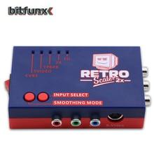 Original Bitfunx RetroScaler2x A/V Converter and Line-doubler for Retro Game Consoles for PS2/N64/NES/SEGA