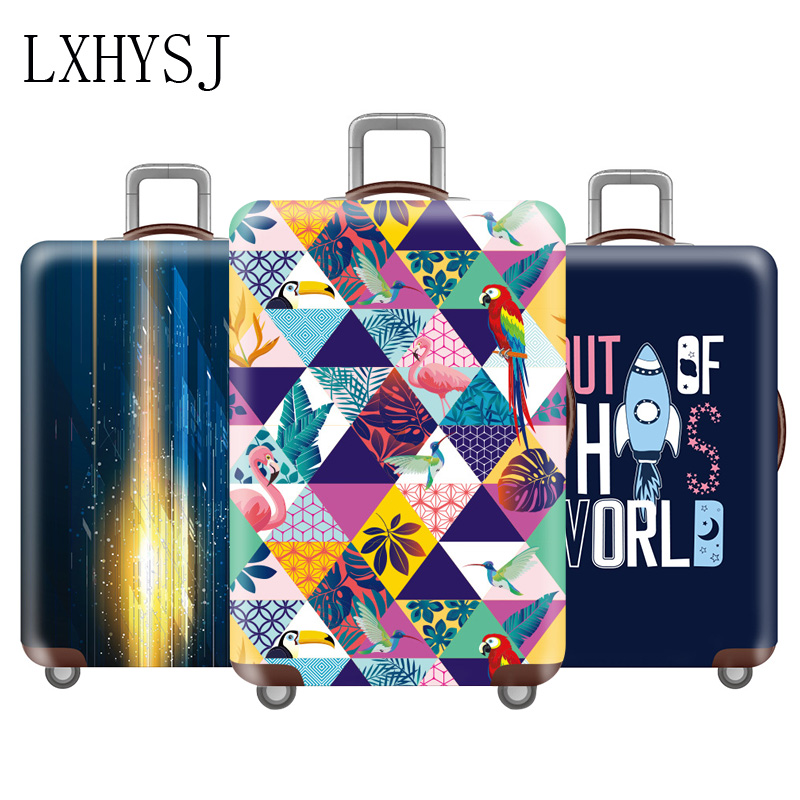 Elasticity Travel Luggage Cover Flower Pattern Luggage Protective Covers Thicken Suitcase Cover 18-32 Inch Travel Accessories