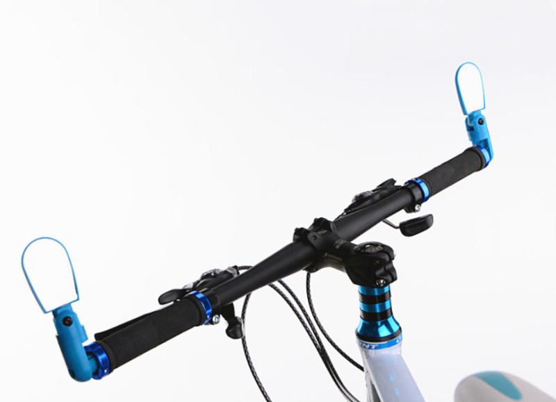 Universal Bicycle Mirror Handlebars Rotatable Wide Angle Rear View Accessory New