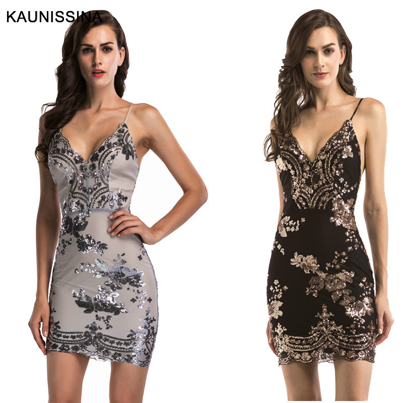 KAUNISSINA Short   Cocktail     Dresses   Appliques Lace Robe Spaghetti Strap Backless Sexy Club Wear Prom Party Gowns Homecoming   Dress