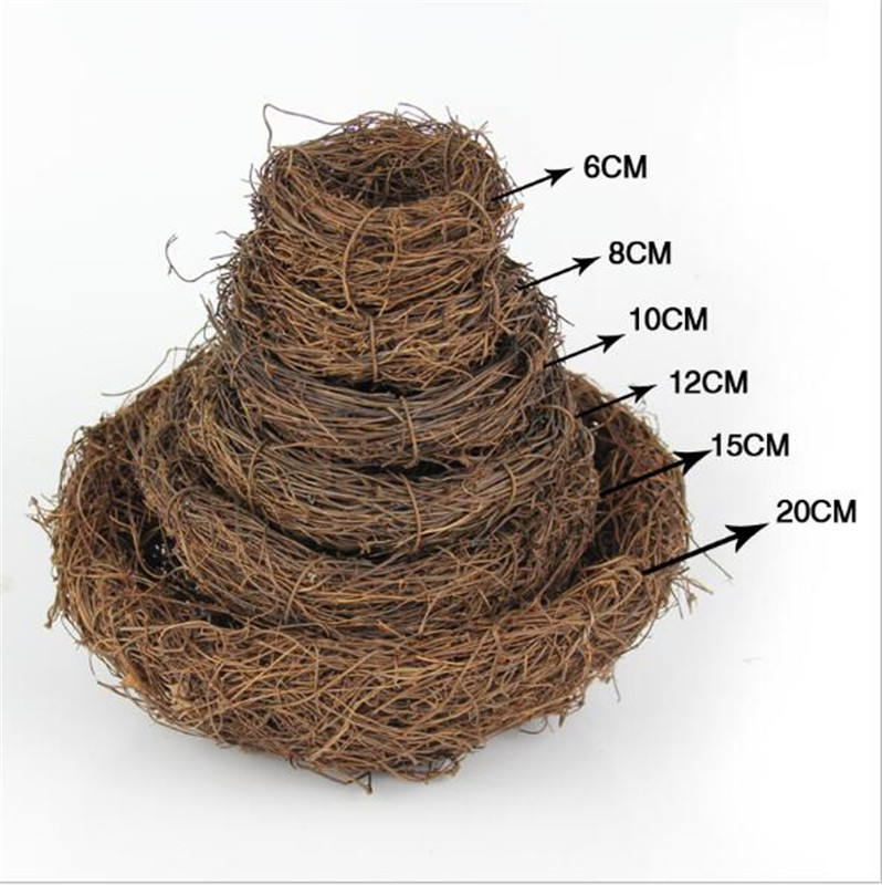 Nature 6/8/10/12/15/20cm Vintage Decoration Prop Bird Nest Bird Cage Creative For Optical Store Window Display Photography Props