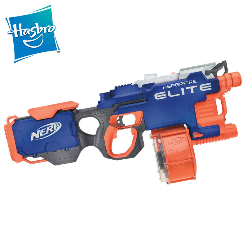 Original Hasbro NERF Outdoor Fun  Sports Super E Speed Shooter Super Fire Launcher Electric Soft Gun Children's Toy Gun Gift