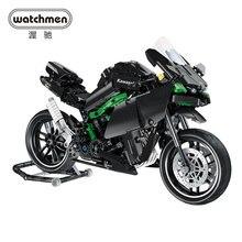 Мини мотоцикл строительные блоки кирпичи Мотоцикл Скорость фотомодель