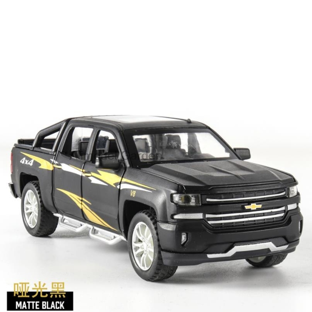 1:32 HX CHEVROLET Pickup Truck Toy Car Metal Toy Diecasts & Toy Vehicles Car Model High Simulation Car Toys For Children