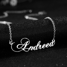 Fashion Customized Nameplate Necklace Stainless Steel Chain Choker Birthday Gift for Girlfriend Handmade Letter Name Jewelry