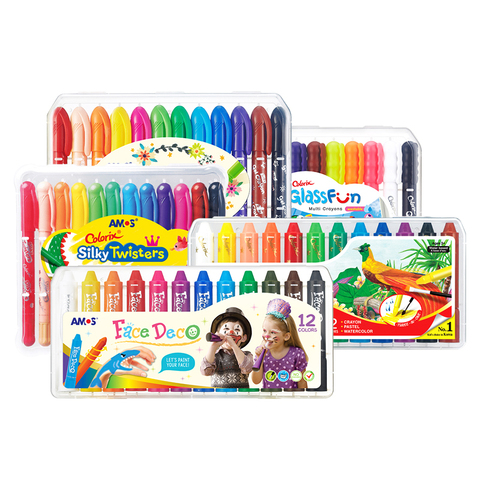 amos colorido lapis de seda 12 cores definir soluvel em agua rotativa pintura a oleo
