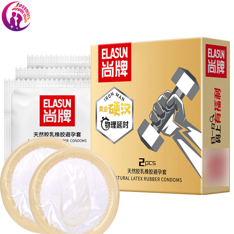 Elasun Delay condom 10PCS Hyaluronic acid physical delayed Adult goods for sex toys  erotic thin Anesthetic Condoms