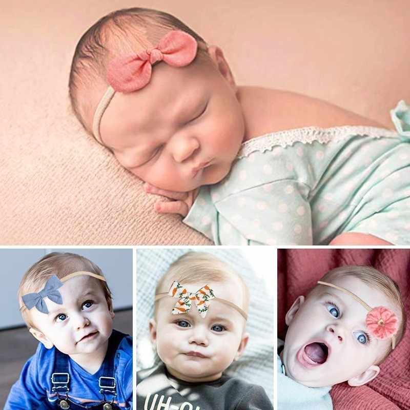 MAYA STEPAN 1 ชิ้นเด็ก Headbands = หญิง Bowknots ดอกไม้ Hairband Head Band ทารกแรกเกิดเด็กวัยหัดเดินของขวัญอุปกรณ์เสริมผม