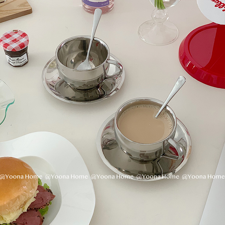 Criativo aço inoxidável caneca de café artesanal