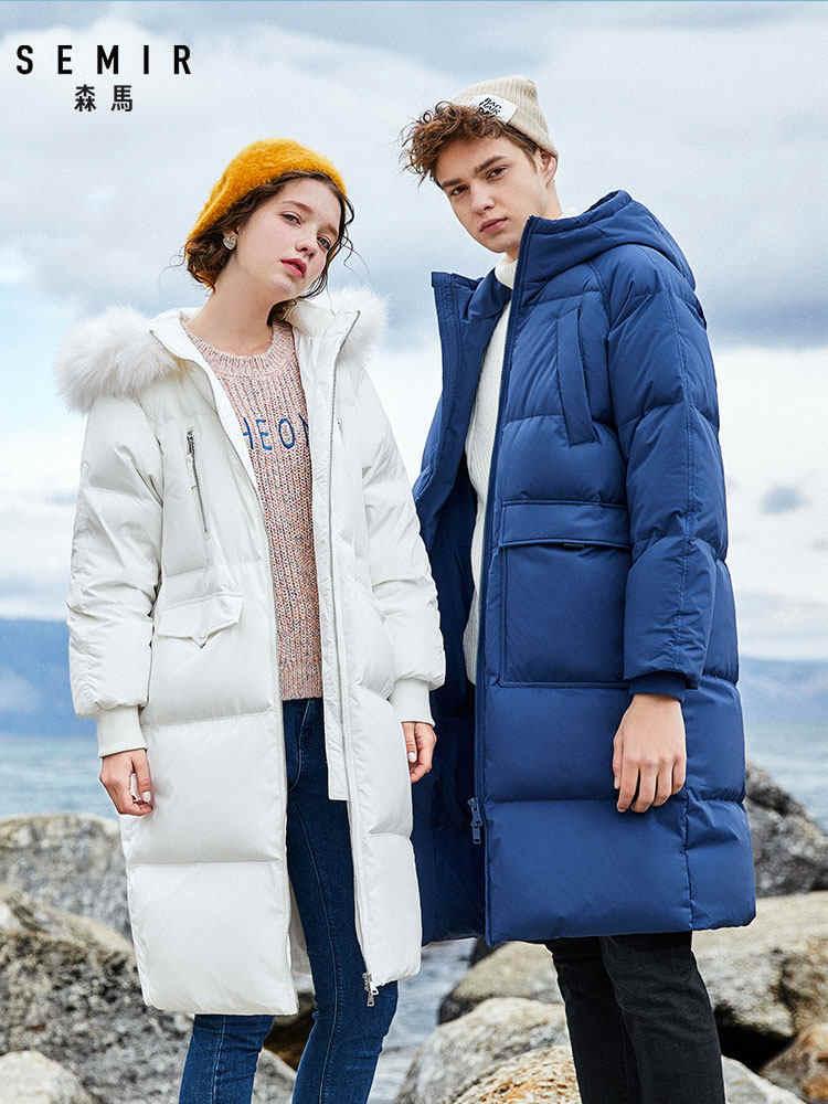 Semir 2019 venda quente inverno casaco feminino grosso para baixo casaco de jaqueta para mulher jaqueta longa quatro cores para-20 baixo grau
