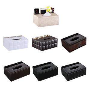 Image 2 - Многофункциональный настольный органайзер, держатель для пульта дистанционного управления, контейнер для карандашей, коробка для хранения салфеток из искусственной кожи