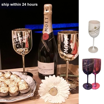 2PCS Champagne Coupes Cocktail Glass Ice Bucket Chandon Wine Beer Partyfor 3L Acrylic White Ice Buckets Wine Coolers Wine Holder