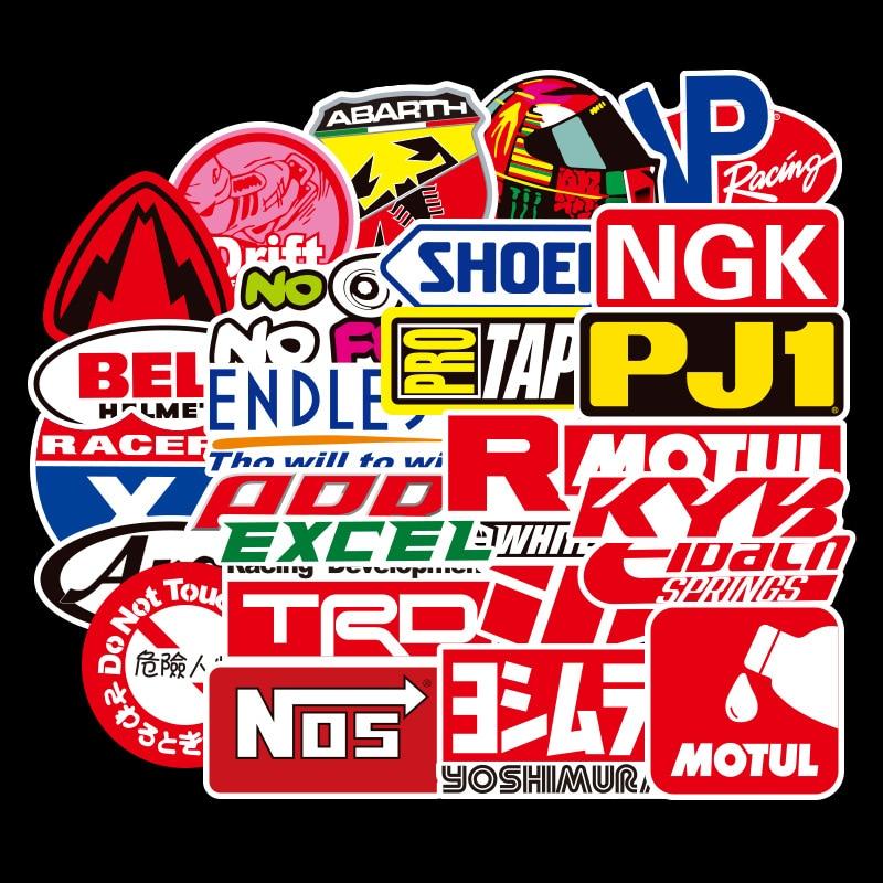 Stickers Lot 100pcs Racing Car Racing Stickers Decals Bilstein Brembo Nos Jdm