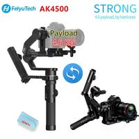 FeiyuTech AK4500 3 Axis Handheld Gimbal DSLR Camera Stabilizer Kit Pole Tripod for Sony/Panasonic/Canon with Remote Follow Fcous