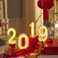 16CM Height 3D White Letters Wedding Decoration Ornaments 0-9 Numbers LED Light Indoor Wall Hanging Birthday Party Xmas Decor