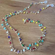 Colorful Beads Handmade Chain Sunglasses Chains Necklace Reading Glasses Cord Holder Neck Strap Rope