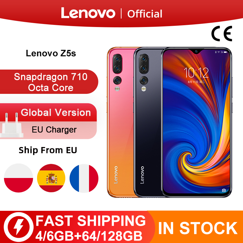 Global Version Lenovo Z5s Z5 S Smartphone Snapdragon 710 Octa Core Face ID 6.3inch Android P Triple Rear Camera Smartphone(China)