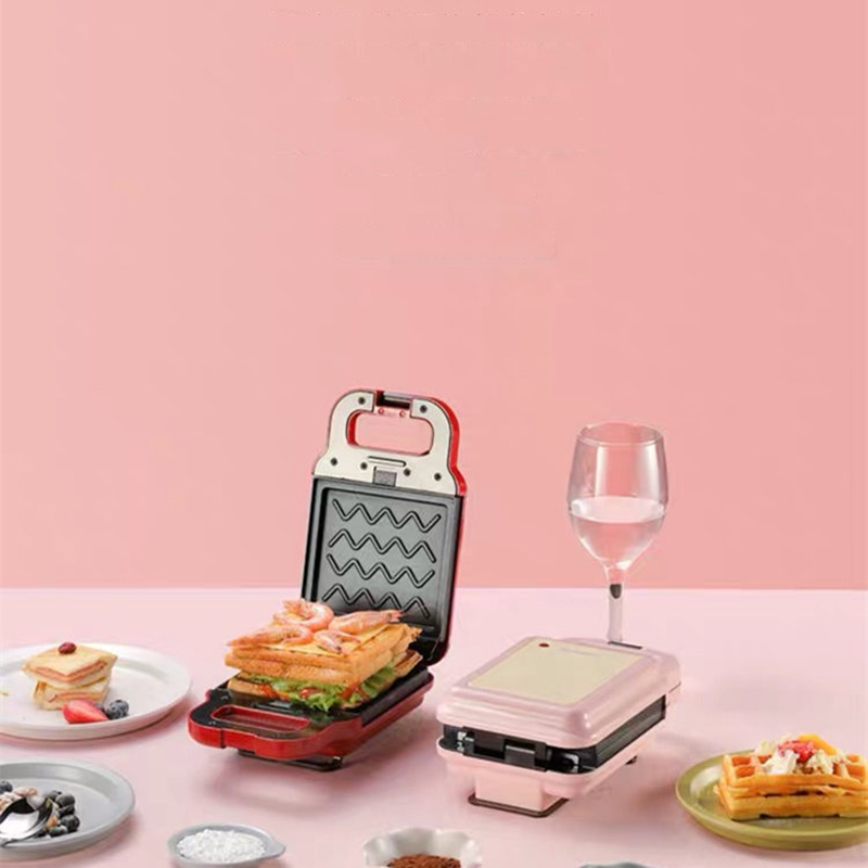 Kbxstart Electric Sandwich Maker Waffle Bread Machine Home Multi-function Non-stick Breakfast Machine 220V