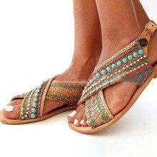 SHUJIN Women Sandals Summer 2020 Female Shoes Woman Peep-toe Wedge Comfortable Slip-on Flat Sandalias