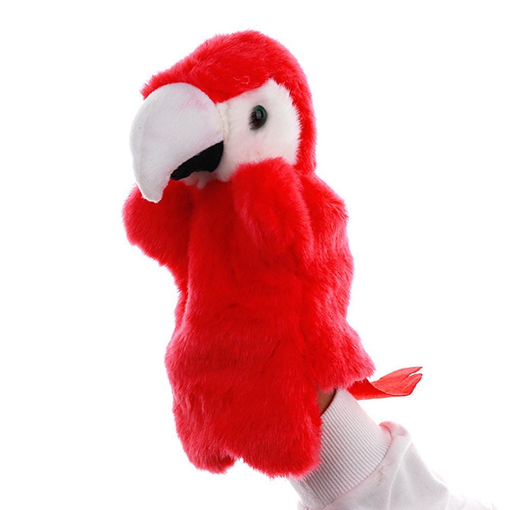 Cartoon Parrot Hand Puppet Cute Bird Animal Toy Storytelling Prop Children Gift Kindergarten Teaching Tool