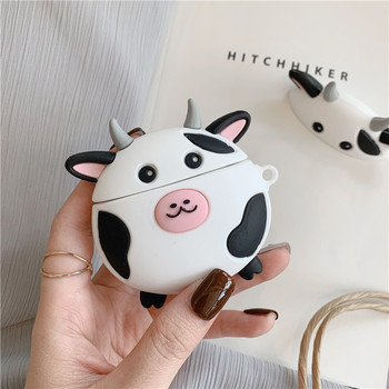 For AirPods Pro Case Cute Cartoon Cow Soft Silicone Wireless Earphone Cases For Apple Airpod 3 Case Cute Cover Funda for airpods pro case 3d little bear cartoon soft silicone wireless earphone cases for apple airpod 3 case cute cover funda