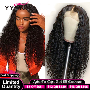 YYong 1x6 HD Part Lace&13x4 Lace Front Human Hair Wig With Baby Hair Remy Indian Deep Wave 30 32inch Lace Front Wigs For Women