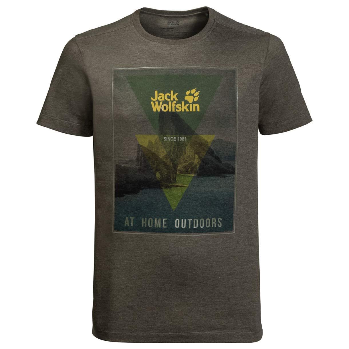 Jack Tee Wolf Mountain T-Shirt Unisex Size S-3XL