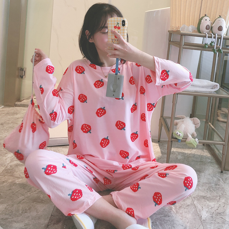 2020 New Fashionable Pajamas For Women Comfortable Cotton Pyjamas For Girls Long Sleeve Summer Spring Autumn Night Sleepwear