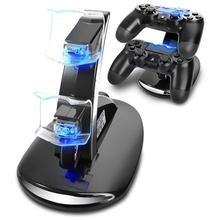 PS4 Controller Charger Dock Dual USB Charging Stand Charging Station Stand Cradle for Sony Playstation 4
