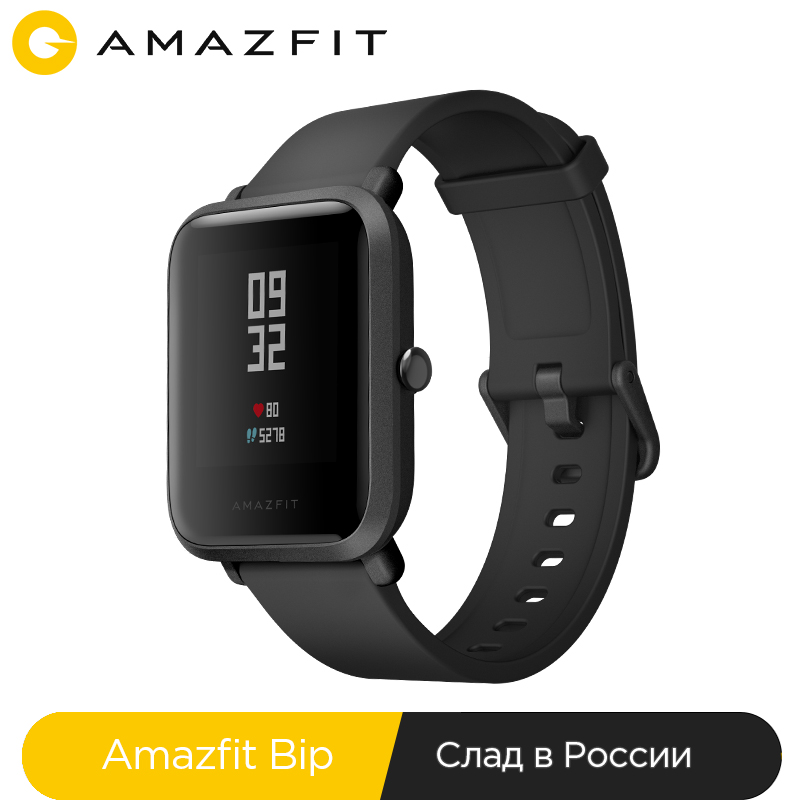Русский Smart Watch Amazfit Bip Bluetooth GPS Sport Heart Rate Monitor IP68 Call Reminder Mi Fit APP for Xiaomi Cellphone 7 IOS-in Smart Watches from Consumer Electronics