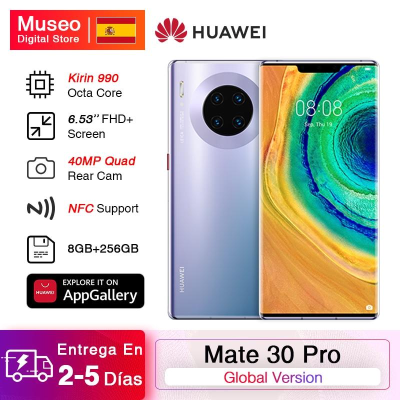 Global Version HUAWEI Mate 30 Pro Mobile Phones Kirin 990 8GB 256GB 6.53'' 40MP Triple Cams Smartphone 4500mAh 40W Super Charge