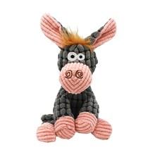 Zabawki dla psów wypchane osioł piszczące zabawki dla zwierząt śliczne pluszowe Puzzle interaktywna zabawka dla psów piszcząca zabawka piszcząca zabawka dla zwierząt