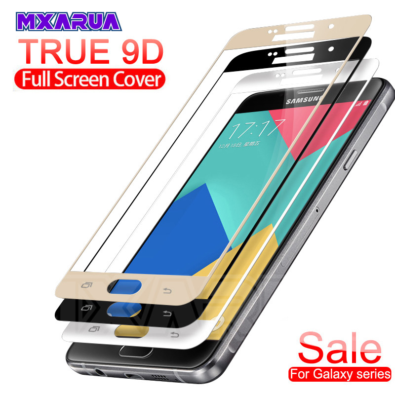9D Protective Glass On The For Samsung Galaxy S7 J3 J5 J7 A3 A5 A7 2016 2017 Tempered Screen Protector Glass Protection Film