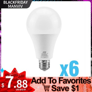 6PCS LED Lamp 9W 12W 15W 18W LED Bulb Light E27 Day White Warm Cold White 220V Lampada Ampoule Bombilla LED Light For Home Decor