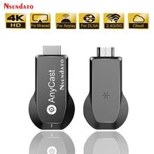 Anycast M100 2.4G/5G 4K Wifi HD Dongle bezprzewodowy wyświetlacz TV Stick żadnej obsady dla Miracast DLNA AirPlay odbiornik TV dla IOS Android